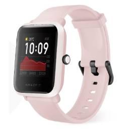 Amazfit Bib S Rosa com GPS Smartwatch A Prova D'água Original Novo Lacrado