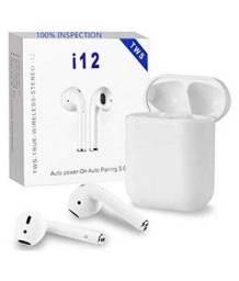 Fone de ouvido sem fio i12 TWS