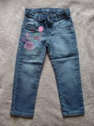 Calça jeans infantil tamanho 2