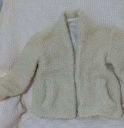 Casaco menina pele sintética