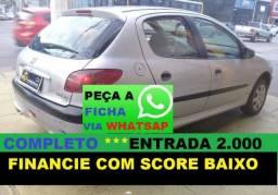Peugeot 206 Financiamento com Score Baixo Financie com score baixo