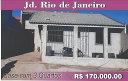 Casa com 3 quartos, Jd. Rio de Janeiro