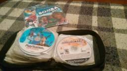 Vendo pasta com 37 jogos de PlayStation 2