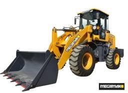 Pá Carregadeira 2000kg C/ Ar Cond + Kit Engate Rapido + Garfo Pallet - Nova, 0km