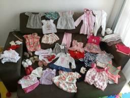 Lote bebê menina 3 a 6 meses