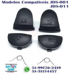 Kit Botões R2 + L2 + R1 + L1 + Par De Molas P\ Controle Ps4