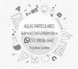 Aulas de matemática, química e física