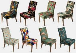 Capa de cadeira estampada floral