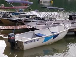Barco completinho com motor, capota e carreta - 2008