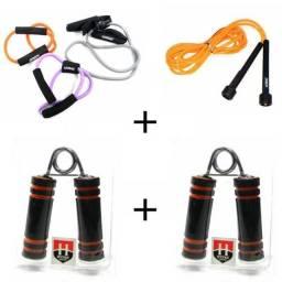 Kit Academia Fitness 6x1 - 1Corda 2alicates 3elasticos