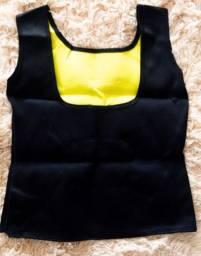 Kit camisa modeladora redutora + corda tubo pedal