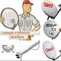 Instalação de qualquer tipo de Antena