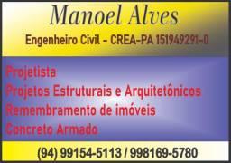 Engenheiro civil Manoel Alves