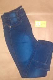 R$ 70 Calça jeans feminina cintura alta cós lycra