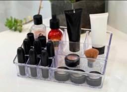 Organizador em acrílico para maquiagens e acessórios