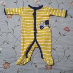 Kit com 2 Macacões/Pijamas Carters - Bebês de 0 a 3 meses - Importado