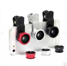 Kit de lentes para celular tipo olho de peixe