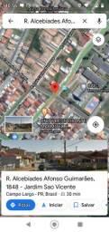 Terreno Campo Largo, esquina , fte. Caic, entrada R$10.000,00