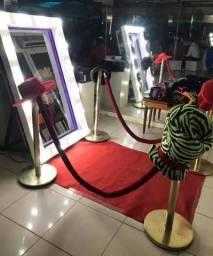 Aluguel Cabine de fotos Espelho Mágico Marco Led Festas 15 Anos Aniversarios