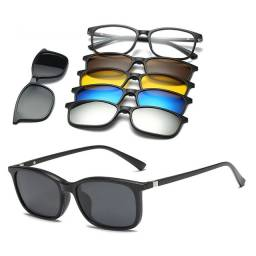 Armação Óculos Sol Multi Lentes Para Grau 6 Em 1 Top