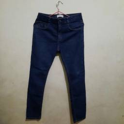 Calça jeans + camiseta menino tam 12