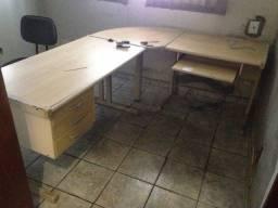 Mesa Escritório em L - bege