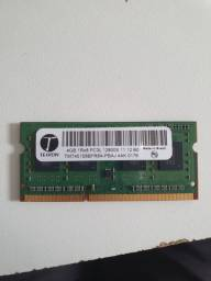 Memória RAM 4gb Teikom 12800s para notebook DDR3 SDRAM