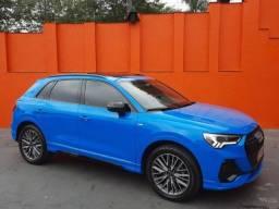 Audi Q3 Black S Line 1.4 Cor Azul  Turbo- 2021 - Ainda Pode Ser Sua!