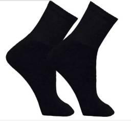 Título do anúncio: meias unissex kit 12 pares cano alto sport algodão 39 a 43