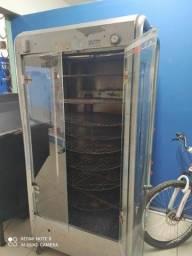 Assadeira de carne/frango a gás com 8 plataformas giratórias