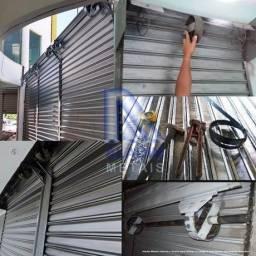Manutenção e fabricação de portas de aço de enrolar.