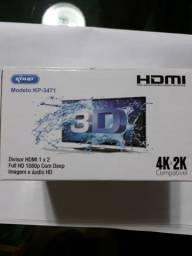 Splitter Divisor Hdmi 1 X 2 Full Hd 3d Dee Imagem E Audio