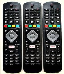 Controle remoto TV SMART Philips com tecla Netflix