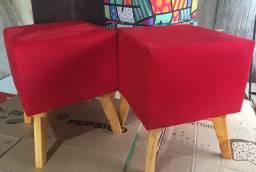 PUFFS LISOS RETRÔ LUXO (VÁRIAS CORES) R$ 74,99 und