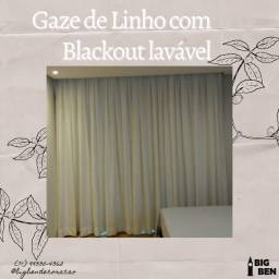 Gaze de linho com blackout lavável 09