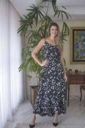 Vestido longo Floral M ao GG