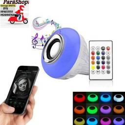 Lampada Bluetooth com som e jogo de luz (ENTREGA GRATUITA)