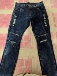 Calça Jeans Masculina Rasgada