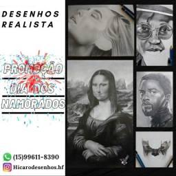 Promoção desenhos realista
