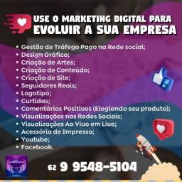 Título do anúncio: Serviços de Marketing para você que está sem tempo
