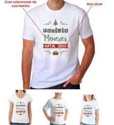 Camisetas p  Natal Personalizada com Sobrenome da Sua Família a93ef037501