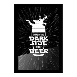 Quadro Porta Tampinha de Cerveja - Dark Side Of The Beer(StarWars)
