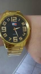 Relógio Tommy Hilfiger Dourado Novo