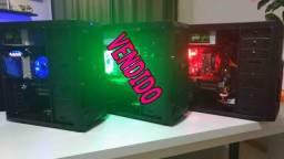 COmputadoR Led gabinete Gamer CPu Pc *8gb *12x *Placa De Video *Garantia ##### Chama no