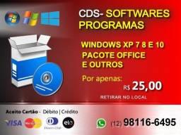 Cds e Software - Windows XP , 7, 8 10 e Outros