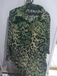 Camisa zebra verde