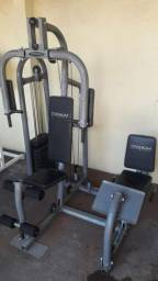 Estação de Musculação Multi-Exercícios com Leg Press Titanium G90 sete meses de uso