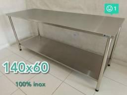 Mesas Pias 100%Inox 1,40X 60 R$ 510,00