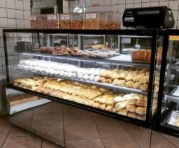 Linha de balcões padaria/confeit.-refrigerado, seco ou estufa, vários tamanhos- NOVO