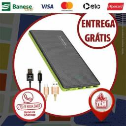 Bateria Portátil 20.000 mah 8 Cargas Original Pineng
